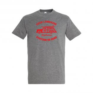 T-shirt gris Surfcar